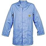 SCHOFIC Antistatic [ESD] Safe Unisex Lab Coat/Apron / Jackets [Large] - Blue