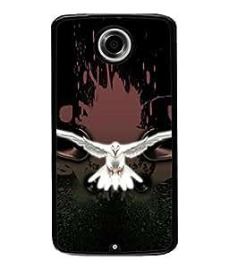 PrintVisa Designer Back Case Cover for Motorola Nexus 6 :: Motorola Nexus X :: Motorola Moto X Pro :: Google Nexus 6 (Flying Bird In White Classy Design)