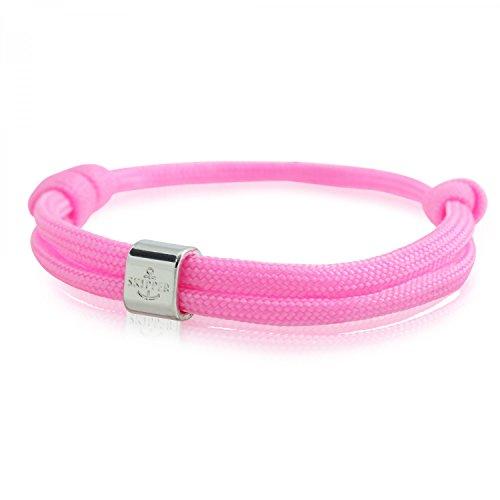 Skipper Surfer-Armband mit Charm für Damen und Herren - Rosa 6782
