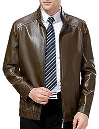 Amazon.it  giacca di pelle uomo - Verde   Giacche   Giacche e ... c1f6950698d