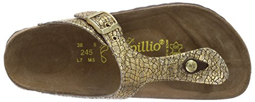 Papillio Gizeh, Sandales Femme Or (cassis Crack Gold)