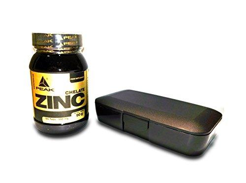 Peak Zink Chelat, 180 Tabletten, 1-er Pack (1 x 90 g) + Pillendose