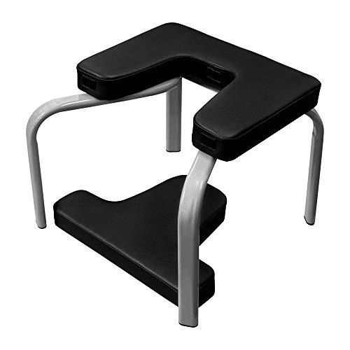 WXH Multifunktions-Yoga-Inversionsstuhl, Yoga-Inversionsbank, physikalische Technik, Spannungsfestigkeit, PU-Polster, Müdigkeit lindern und Körper aufbauen, Familie,Black