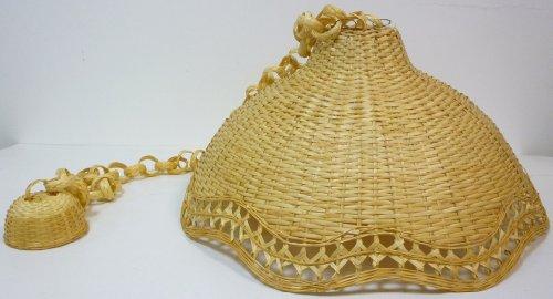 Plafoniere In Vimini : Lampadario bambù vimini e giunco appendibile