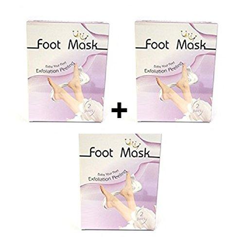 foot mask Foot Mask - Fussmaske zur Hornhautentfernung, Fußpeeling, Peeling-Maske, 3-fach Set - 3x2 Paar