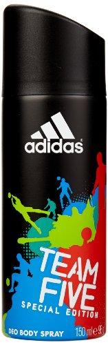 Preisvergleich Produktbild adidas Team Five Deodorant Body Spray 150 ml,  3er Pack (3 x 150 ml)