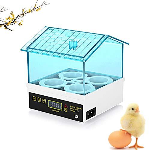 WishY Incubatrice Automatica da 4 Uova Controllo della Temperatura Digitale Hatchery per Pollame Pollo Anatra Quaglia l\'incubazione delle Uova Allevamento