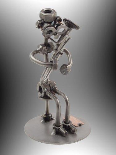 "Boystoys HK Design - Schraubenmännchen Tubaspieler ""Tuba"" - Metall Art Geschenkideen Deko Skulptur Musiker & Musikinstrumente - hochwertige Original Figuren handgefertigt"