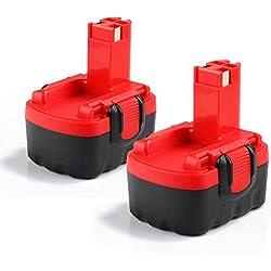 2X Dosctt Remplacement pour Bosch 14.4V 3.0Ah Ni-Mh Batterie de BAT038 BAT040 BAT041 BAT140 BAT159 13614 3660K 52314 PSR 14.4 2607335275