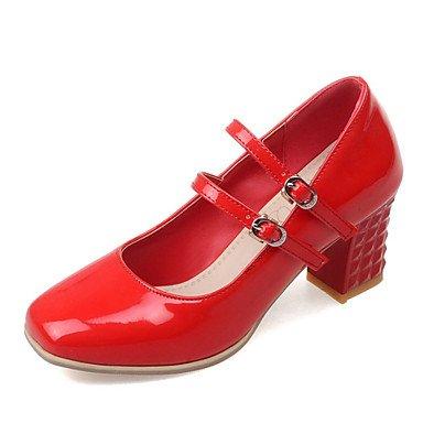 Zormey Frauen Schuhe Ferse/Quadratische Spitze Heels B¨¹ro & Amp Karriere / Kleid Schwarz/Rot/Silber US5 / EU35 / UK3 / CN34