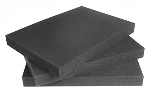 3x SCHAUMEX ® Rasterschaumstoff Würfelschaumstoff Zupfschaum Werkzeugkoffer Kamerakoffer Schaumstoff 500mm x 350mm x 45mm