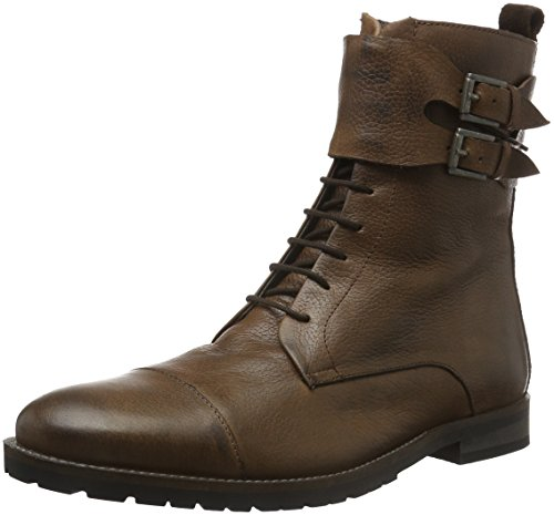 Bianco Herren Warm Buckle Boot 66-71415 Combat, Braun (Dark Brown20), 44 EU (Boots Buckle)