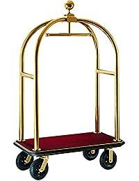 Hochwertiger Gepäckwagen für Hotel Gepäck Wagen Transport extra stabiler Transportwagen Hotelwagen Kofferwagen Packwagen in der Farbe Gold