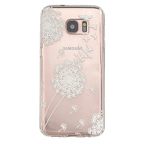 MOTOUREN Coque PourSamsung Galaxy S7 Edge ,transparent Housse étui en TPU Silicone Shell Housse Coque étui Case Cover Cuir Etui Housse de Protection ÉtuiSamsung Galaxy S7 Edge - pissenlit