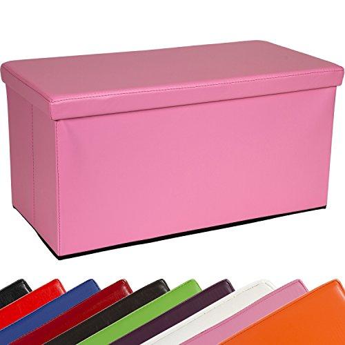 STILISTA Sitzwürfel 'BIG BOX', 76x38x38cm, Faltbox aus MDF + Kunstleder, Sitzbox faltbar, 10 Farbvarianten, Sitzhocker 3 Jahre Garantie