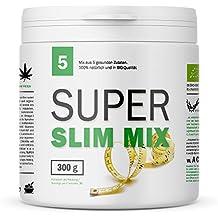 MyGreenz Bio-Super Slim - Superfood Pulver für Figurbewusste - Bio-Zertifiziert - Enthält Hanfprotein, Spirulina, Chlorella, Lucuma und Guarana - Mit natürlichem Koffein - 300 g