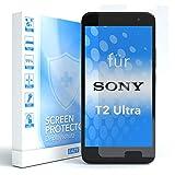 EAZY CASE 1x Panzerglas Bildschirmschutz 9H Härte für Sony Xperia T2-Ultra, nur 0,3 mm dick I Schutzglas aus gehärteter 2,5D Panzerglasfolie, Bildschirmschutzglas, Transparent/Kristallklar