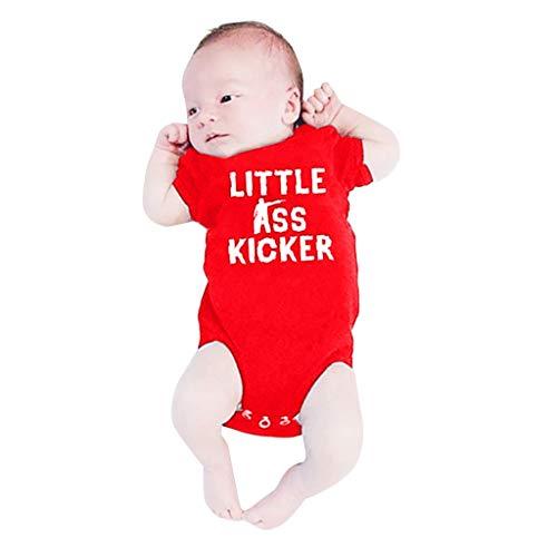 Watopi Neonato Comics Body Personalizzata 'Little Ass Kicker' Carina Bimba Costume Regalo per Neonata/Neonato 0-24 Mesi