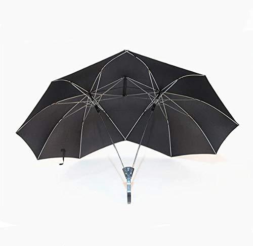 Parapluie Parapluie Creative Crochet Couple Double Top Umbrella pliable (Couleur : NOIR)