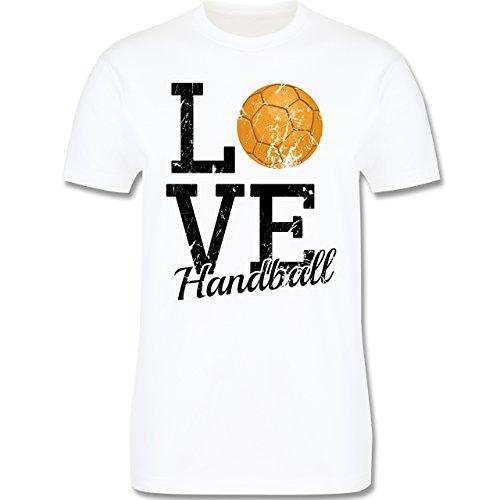 Handball - Love Handball - Herren Premium T-Shirt Weiß