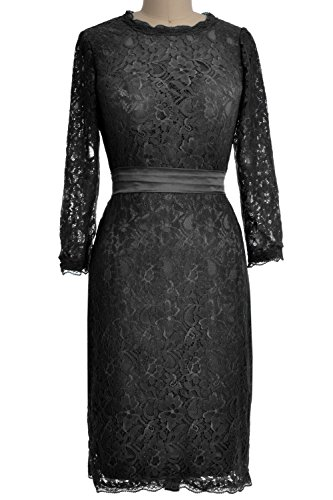 MACloth - Robe - Crayon - Manches Longues - Femme Noir - Noir