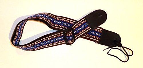 DROG 1022 Gitarrengurt - Guitar Strap, Schwarz, Weiß, Blau, Rot
