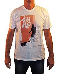 1stAmerican t-Shirt Mezza Manica Uomo Collo V 100% Cotone Jersey Fiammato Stampa Digitale