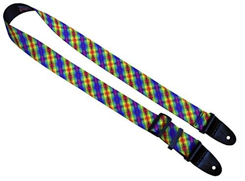 Killer-Q Gitarrengurt - Stilvolle Gurte für E- und Akustikgitarren Calico Rainbow (Rainbow Gitarrengurt)