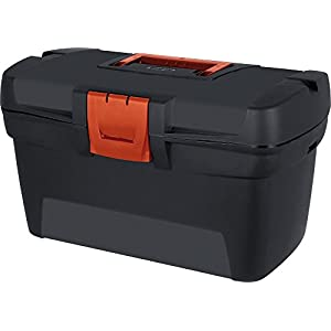 CURVER 193601 Herobox OPP – Caja de Herramientas (Polipropileno, 33 x 19 x 15,9 cm), Color Negro y Rojo