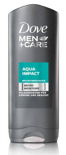 "3x Dove Men + Cura Doccia ""Aqua Impact"", ogni 250 ml"