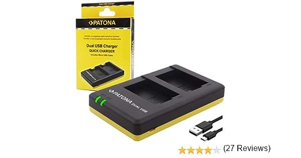 caricabatteria casa//auto per Fujifilm NP-95 Batteria Patona