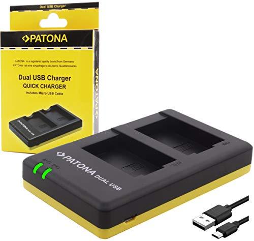 Bundlestar Dual caricabatterie 1964 per SONY NP FW50 Fotocamera Sony ILCE QX1 Alpha 5000 5100 6000 6300 6500 Alpha 7 e 7 II 7S CyberShot DSC RX10
