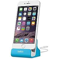 Belkin - Base Dock de Carga y sincronización para iPhone y iPad Compatible con iPhone 8/8+ y iPhone X, Azul