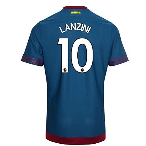 2018-2019 West Ham Away Football Soccer T-Shirt Camiseta (Manuel Lanzini 10)