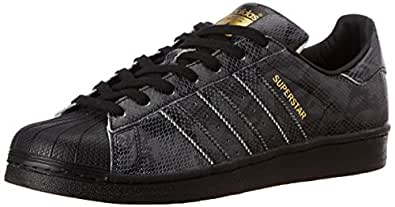 adidas Originals Men's Superstar East River Rivalry Core Black Leather Sneakers - 7 UK
