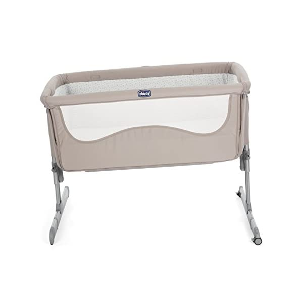Chicco Next2me Side Sleeping Crib - Chick to Chick  Co-sleeping crib that promotes side-sleeping and allows you to sleep close to your child Can be used as a normal crib as baby grows.open size: 66/81 x 93 x 69 Uitable from birth to 6 months/9 kg or until baby can pull themselves into an upright position 5