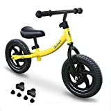 Blusmart Kinder Laufrad Sport Walking Fahrrad für Kinder im Alter von 18 Monaten bis 5 Jahren 12 Zoll Leichte Fahrräder für Jungen und Mädchen Balance Training