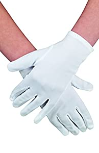 White Gloves for adults (accesorio de disfraz)