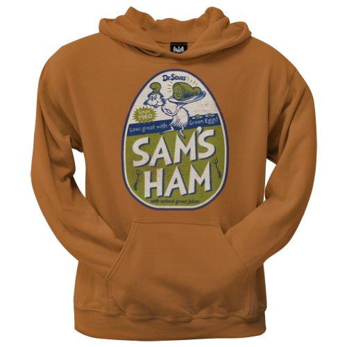 Dr. Seuss–Herren Sam 's Ham Hoodie Gr. X-Large, Orange
