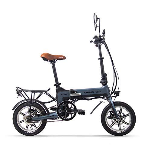 Rich bit RT-619 36V 10.2AH 250W Nueva Bicicleta eléctrica Plegable de 14 Pulgadas (Gray)