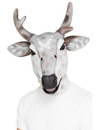 Smiffys Maske Rentier Hirsch grau Karneval Fasching Weihnachten