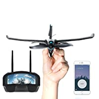 TobyRich Smart RC Plane FPV +: Smartphone App Controlled VR Pro Stunt Aeroplane Virtual Reality Drone for iOS and Android Voice Recorder & 2GB SD Card