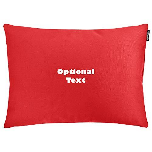 Happysnapgifts personalizzabile con messaggio stampato con il testo, nome o slogan, cotone, cotton fabric - red, rectangle - 57cm x 40cm