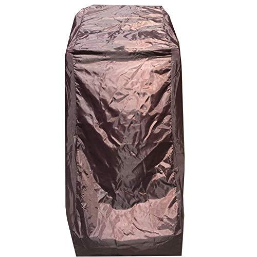 Preisvergleich Produktbild QAZWSX Staubschutzhülle - Staubschutzhülle Haushaltssonnenschutz Regenschutzhülle Universalhülle Oxfordstoff (Farbe: Silbergrau,  Braun) Möbelstaubschutz (Color : Brown,  Size : 85x70x145cm)