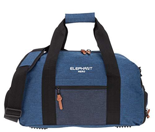 2-ton-tasche (ELEPHANT/SPEAR Sporttasche mit Schuhfach/Naßfach Sport Tasche + Trinkflasche (Two Tone Blue (blau)))