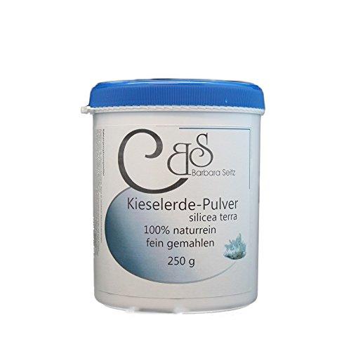 Kieselerde Pulver 250 g - Barbara Seitz - fein gemahlen, Silicium für Haut, Haare und feste Nägel