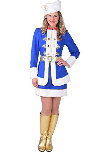 Kosaken Kostüm Hut - narrenkiste M218139-L blau-weiß Damen Kosaken Kostüm Kosakin Gr.L