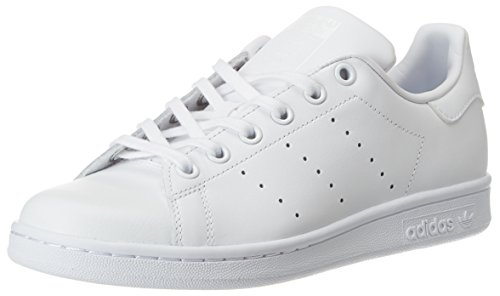 adidas Unisex-Kinder Stan Smith J Gymnastikschuhe, Elfenbein (Ftwr White/Ftwr White/Ftwr White), 38 EU (Kids Stan Smith Adidas)