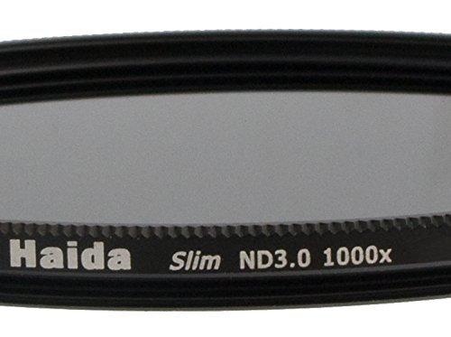 Filtre densité neutre extrême mince spéciale ND 3.0 (1000x) de 72 mm et des bouchons objectif Pro
