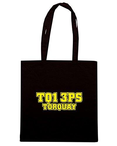 T-Shirtshock - Borsa Shopping WC1196 torquay-postcode-tshirt design Nero